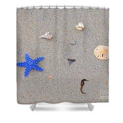 Sea Swag - Dark Blue Shower Curtain by Al Powell Photography USA