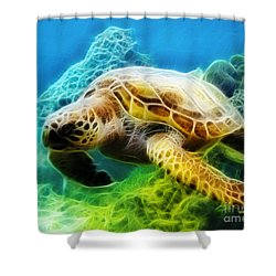 Sea Turtle 1 Shower Curtain by Cheryl Young