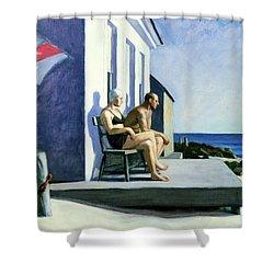 Sea Watchers Shower Curtain by Edward Hopper