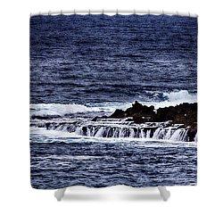 Sea Waterfall Shower Curtain by Douglas Barnard