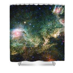 Seagull Nebula Shower Curtain by Adam Romanowicz