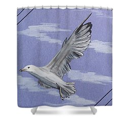 Seagull Shower Curtain by Susan Turner Soulis