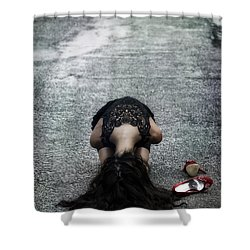 Searching For Protection Shower Curtain by Joana Kruse