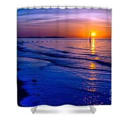 Seascape Shower Curtain by Adrian Evans