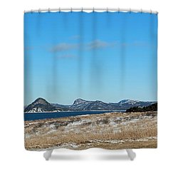 Seascape - Panorama Shower Curtain by Barbara Griffin