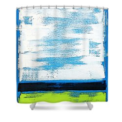 Seaside - Abstract Modern Art By Sharon Cummings Shower Curtain by Sharon Cummings