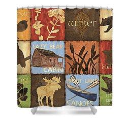 Seasons Lodge Shower Curtain by Debbie DeWitt