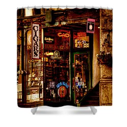 Seattle Cigar Shop Shower Curtain by David Patterson