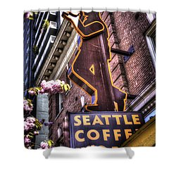 Seattle Coffee Works Shower Curtain by Spencer McDonald