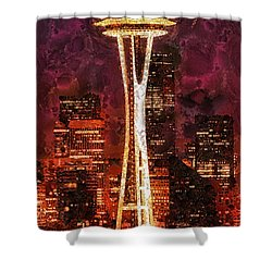 Seattle Shower Curtain by Mo T