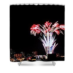 Seattle New Years Shower Curtain by Benjamin Yeager