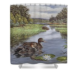 Secluded Rendezvous Shower Curtain by Richard De Wolfe
