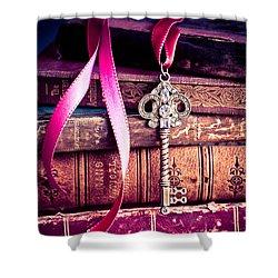 Secret Love Shower Curtain by Jan Bickerton