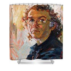Self- Portrait 2010 Shower Curtain by Ylli Haruni