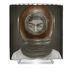 Self Portrait Shower Curtain by Balazs Solti