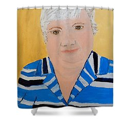 Self Portrait Shower Curtain by Pamela  Meredith