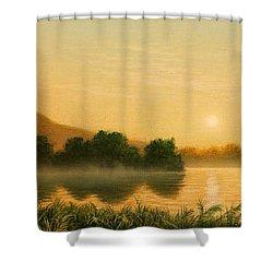Seminole Sunset Shower Curtain by Jerry LoFaro
