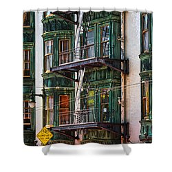 Sentinel Building Or Columbus Tower Shower Curtain by RicardMN Photography