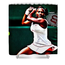 Serena Williams 3a Shower Curtain by Brian Reaves