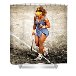 Serena Williams Count It Shower Curtain by Brian Reaves