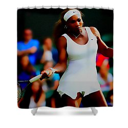 Serena Williams Making It Look Easy Shower Curtain by Brian Reaves