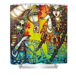 Serenade Shower Curtain by Albena Vatcheva