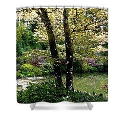 Serene Garden Retreat Shower Curtain by Carol Groenen