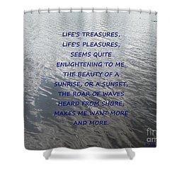 Serene Water Shower Curtain by Joseph Baril