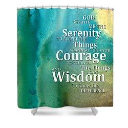 Serenity Prayer 2 - By Sharon Cummings Shower Curtain by Sharon Cummings