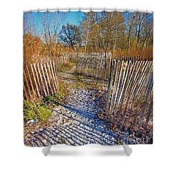 Serenity Trail.... Shower Curtain by Nina Stavlund