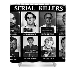 Serial Killers - Public Enemies Shower Curtain by Paul Ward