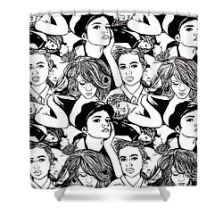 Seven Beauties Shower Curtain by Malinda  Prudhomme