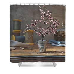 Sew Tiny Shower Curtain by Cynthia Decker