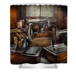 Sewing - A Chorus Of Three Shower Curtain by Mike Savad
