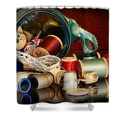 Sewing - Grandma's Mason Jar Shower Curtain by Paul Ward