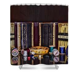 Sewing Kit Shower Curtain by Paul Ward
