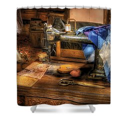 Sewing Machine  - Sewing Machine IIi Shower Curtain by Mike Savad