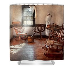 Sewing - Room - Grandma's Sewing Room Shower Curtain by Mike Savad
