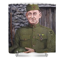 Sgt Sam Avery Shower Curtain by Jack Skinner
