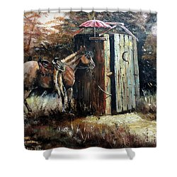 Shade For My Horse Shower Curtain by Lee Piper