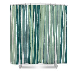 Shades Of Blue Shower Curtain by Aged Pixel
