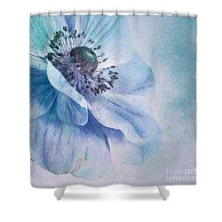 Shades Of Blue Shower Curtain by Priska Wettstein