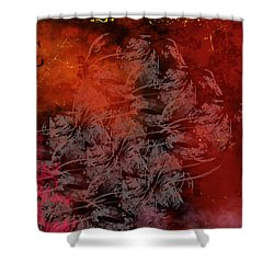 Shadow And Flame Shower Curtain by Christopher Gaston