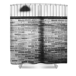 Shadow On The Wall Shower Curtain by Erik Brede