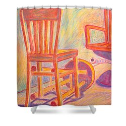 Shadow Play Shower Curtain by Kendall Kessler