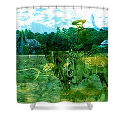 Shadows On The Land Shower Curtain by Seth Weaver