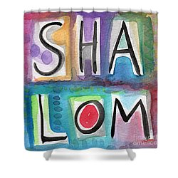 Shalom - Square Shower Curtain by Linda Woods