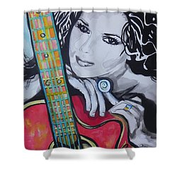 Shania Twain Shower Curtain by Chrisann Ellis