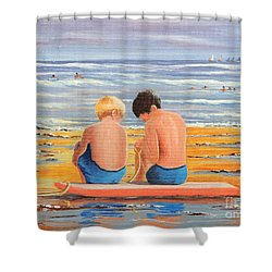 Sharing Is Caring Shower Curtain by Bill Holkham