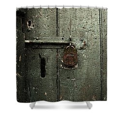 Shed Of Secrets Shower Curtain by RC DeWinter